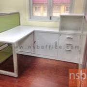 A18A049:โต๊ะทำงานตัวแอลพร้อมตู้ข้าง 140W1*170W2*60D1*40D2*75H1*110H2 cm