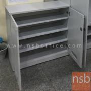 C12A012:ตู้วางรองเท้า ขนาด 90W*90H cm. 2 บานเปิด 4 ชั้น สำหรับลูกค้า รุ่น VCP-2012