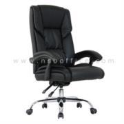 B25A108:เก้าอี้ผู้บริหาร ปรับนอนได้ รุ่น STU-001 ขาเหล็กชุบโครเมี่ยม