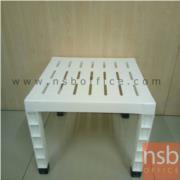 L01A047:โต๊ะอเนกประสงค์ สีขาว พลาสติกล้วน (สต็อก 9 ตัว)
