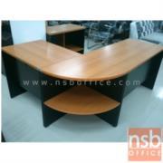 A16A018:โต๊ะทำงานตัวแอล VENUS 180W1*140W2 cm เมลามีน (ตัวมุมมีแผ่นชั้นกลาง)