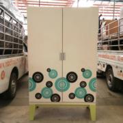 L03A093: ตู้เสื้อผ้าเหล็ก 2 บานเปิดสูง 200 ซม.
