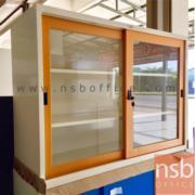 E07A012-1:ตู้บานเลื่อนกระจก กว้าง 88 cm
