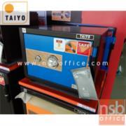 F01A041:ตู้เซฟ TAIYO รุ่น 51 กก. หน้าบานสีสัน 1 กุญแจ 1 รหัส(TS377K1C-30-BK)