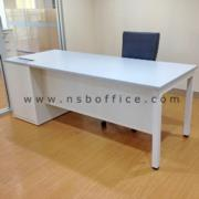 A13A160-1:โต๊ะผู้บริหารตรง ขาเหล็กเหลี่ยม 180W*80D cm พร้อม popup บนโต๊ะ
