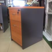 L03A078:ตู้ 2 ลิ้นชัก ล้อเลื่อน เมลามีน 40W 60D 64H cm.*มีสต๊อก1ใบ*