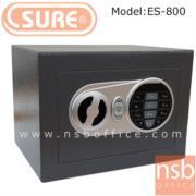 F03A020:ตู้เซฟดิจตอล SR-ES800 เจาะช่องหยอดเงิน น้ำหนัก 2.3 กก. (1 รหัสกด / ปุ่มหมุนบิด)