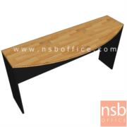 A05A141-1:โต๊ะต่อหัวเหลี่ยมโค้ง  ขนาด 120W*50D1*35D2*75H cm.