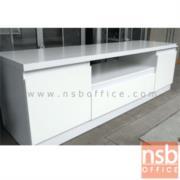 CL30361:ตู้ไซค์บอร์ดวางทีวีเมลามีนสีขาวล้วน 160W*45D*50H cm.  (มีสต๊อก 3 ใบ)