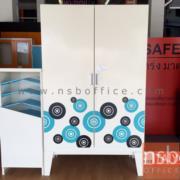 E25A041:ตู้เสื้อผ้าเหล็ก 2 บานเปิดสูง 200 ซม. รุ่น KO-CDW-20 ขาลอย ( 10 สี)