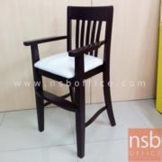 G14A058:เก้าอี้กินข้าวเด็ก ไม้ยางพารา ที่นั่งหุ้มหนังเทียม KS-PPY-3 (สั่งผลิตขั้นต่ำ 10 ตัวขึ้นไป)