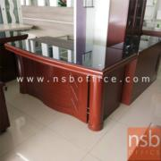 L01A080:โต๊ะผู้บริหารตัวเเอล 160ซม.