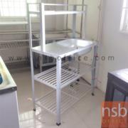 L04A018:ซิ้งค์ล้างจาน บ่อเดี่ยว เพิ่มต่อบน   มีที่คว่ำจาน  80W 40D 125H cm.*มีสต๊อก1 *
