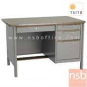 E02A046:โต๊ะทำงาน 4 ลิ้นชักขากล่อง มือจับอลูมิเนียมพร้อมกุญแจล็อค รุ่น TTD-35,TTD-40