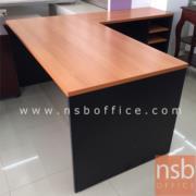 A12A036:ชุดโต๊ะทำงานตัวแอล 165W*180D*75H cm. รุ่น FD-FRESH (3 ช่องโล่ง)
