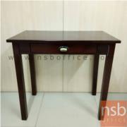 L01A056:โต๊ะไม้เขียนหนังสือมีลิ้นชัก สีโอ๊ึค มี1ตัว  ขนาด 80*48*76ซม.