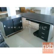 A13A023-1:โต๊ะผู้บริหารตัวแอล รุ่น RZ-LIVE-160W*80D*75H cm. พร้อมตู้ข้าง
