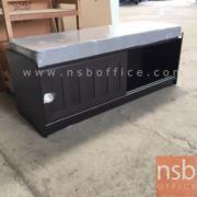 G05A045:ตู้เก็บรองเท้าสีโอ๊คที่นั่งรองเบาะ รุ่น STOCK-01 ประตูบานเลื่อน