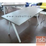 A23A002:โต๊ะทำงาน 150W*75H cm. รุ่น DK-ALEG15    ขาเหล็กตัวเอ