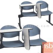 B17A012:เก้าอี้เลคเชอร์แถวโพลี่ล้วน พับไขว้ 2 , 3 , และ 4 ที่นั่ง รุ่น D190NC ขาเหล็กเหลี่ยมพ่นดำ