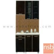 K01A022:ชุดตู้ครัว พร้อมตู้แขวน รุ่น SR-MARKET-120H