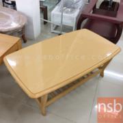 L01A106:โต๊ะกลาง ไม้ยางพารา สีบีช ขนาด100W*59D*41H cm.