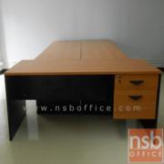 A16A001:โต๊ะทำงาน 2 ลิ้นชัก ผิวเมลลามีน (ขนาด 120W และ 150W ซม.)