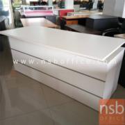 L01A086:โต๊ะทำงาน สีขาว มีลิ้นชัก2ข้าง มีจำนวน1ตัว