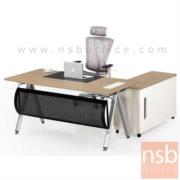 A30A027:โต๊ะผู้บริหาร ขาตัวเอ 160W cm. รุ่น GฺB2020  ขนาด 160W cm. พร้อมตู้ข้าง