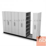 D01A009-1:ตู้รางเลื่อนแบบมือผลัก TAIYO-ST มอก. 1496-2541  4 ตู้ ขนาด 190W*91D*198H cm