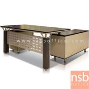 A13A019-1:โต๊ะผู้บริหารตัวแอล รุ่น RZ-STYLISH-160W*80D*76H cm. พร้อมตู้ข้าง
