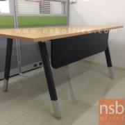 A18A055-1:โต๊ะทำงานขาเหล็กทรงตัวเอ เหล็กเหลี่ยมทำสีดำ 160W*80D cm.