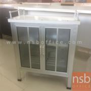 L04A034:ตู้ครัวบานเปิดกระจก ขนาด 62W*33D*70H cm.