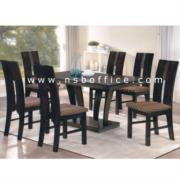 G14A075 :ชุดโต๊ะรับประทานอาหารไม้อาคาเซีย 6 ที่นั่ง M-36