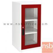 E21A008:ตู้บานเปิดกระจก 2 แผ่นชั้น 44W*40D*88H cm