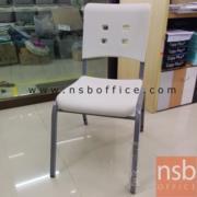 A19A032:เก้าอี้พลาสติกโพลี่หนาพิเศษ รุ่น PC-400 ขนาด 42W* 65D* 83H cm. โครงเก้าอี้เหล็ก