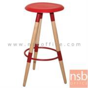 B29A161:เก้าอี้บาร์สูง ที่นั่งพลาสติกโพลี่