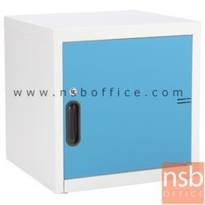 ตู้เหล็ก 1 บานเปิดทึบ หน้าบานสีสัน 44W*40.7D*44H cm:<p>ขนาด 440W*407D*440H mm. / Keylock /ผลิต 8 สีคือ สีขาวมุก, สีดำ, สีแดง, สีม่วง, สีส้ม, สีฟ้า, สีเขียว และสีเทาฟ้า</p>