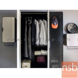"""ชุดตู้เสื้อผ้าเหล็ก พร้อมตู้แขวนบานเปิดแนวตั้งและตู้แขวนบานเปิดแนวนอน รุ่น KO-PT:<p>1 ชุด&nbsp;&nbsp; ประกอบด้วย ตู้เสื้อผ้า&nbsp; ขนาด &nbsp;120W*56D*200H cm. / ตู้แขวนบานเปิดแนวตั้ง ขนาด 40W*35D*80H cm. /ตู้แขวนบานเปิดแนวนอน&nbsp; ขนาด &nbsp;80W*35D*40H cm.&nbsp;<span style=""""color: #ff0000;"""">**สินค้าถอดประกอบไม่ได้ จัดส่งสินค้าวางชั้นล่างเท่านั้น กรณีขึ้นชั้นต้องเป็นลิฟท์กว้างมากกว่า120 cm.**</span></p>"""