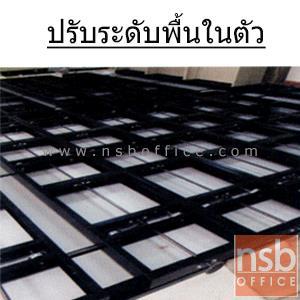 """ตู้รางเลื่อนแบบพวงมาลัย 2 ตอน 100+100D cm ขนาด 6, 8, 10, 12, 14, 16 ตู้ (มอก.1496-2541):<p><span class=""""st"""">มอก.1496-2541</span> / ระบบพวงมาลัย (มือหมุน) ชนิด 6 ,8 ,10 ,12 ,14 ,16 ตู้ มีตู้เดี่ยว 2 ตู้ ที่เหลือเป็นแบบเคลื่อนที่ ประหยัดพื้นที่ รับน้ำหนักได้ 75 กก./ ชั้น เหล็กหนา 0.7 มม. 4 ชั้น 5 ช่อง / ตู้คู่มีแผ่นกั้นตรงกลางเต็มแผ่น (รับผลิตขนาดพิเศษ) /&nbsp;แผ่นพื้นปิดผิวลามิเนต HPL&nbsp;/ ผลิตสีเทาเข้ม สีครีม และสีเทาควันบุหรี่ / เลือกพวงมาลัยแบบมีกล่อง หรือแบบเรียบไม่มีกล่อง /&nbsp;<span>ช่องทางเดิน 64 cm.</span></p> <p>&ldquo;ตู้ 1 ตอนลึก 35.5 ซม. /ตู้ 2 ตอนลึก 61.2 ซม. (สามารถปรับความลึกตู้ได้ตามสเปคที่ต้องการ)&rdquo;&nbsp;</p>"""