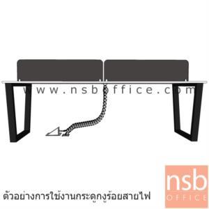 กระดูกงูสีเงิน ร้อยสายไฟ สามารถถอดปรับระดับได้ (ด้านใต้มีเหล็กถ่วงน้ำหนัก):<p>ผลิตจากพลาสติกเกี่ยวต่อกันเป็นข้อๆ / สำหรับติดตั้งใต้โต๊ะเพื่อร้อยสายไฟจากพื้นสู่ top / ติดตั้งแล้วสวยเนื่องจากด้านใต้มีเหล็กถ่วงน้ำหนัก</p>