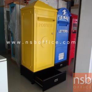 ตู้เก็บของบานเปิดรูปแบบตู้จดหมาย French postes สไตล์คลาสสิก MH-005:<p>ขนาด 57W*52D*162H cm ตู้บานเปิด โครงตู้ทำจากไม้ MDFพ่นสี **ลูกค้าเลือกพ่นเงาหรือพ่นด้านได้**/แข็งแรงทนทานสามารถรับน้ำหนักได้ &nbsp;ภายในมี 2 แผ่นชั้น(แผ่นชั้นไม่สามารถปรับระดับได้) ฐานตู้ลิ้นชัก สามารถเก็บของได้</p>