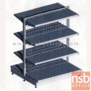 ชั้นเหล็กซุปเปอร์มาร์เก็ต รุ่น FS2-510,NS2-510  (หนา 0.5 mm.) แบบตัวตั้ง และตัวต่อ:<p>ขนาด 90W*90D*120H cm. / ชั้นเหล็กซุปเปอร์มาร์เก็ตวางได้สองด้านมีแผ่นชั้น 4+4 แผ่น สามารถปรับระดับได้&nbsp; มีเหล็กหนา 0.5 มม. / ตะแกรงด้านหลังมีความถี่ ขนาด (50*100 มม.) ขนาดของลวด Di 3 mm /&nbsp;<span>แผ่นชั้นผลิตสีขาว / โครงเสาผลิต 6 สีคือ สีแดง ส้ม น้ำเงิน เหลือง ขาว และเขียวบางจาก (กรณีต้องการผลิตแผ่น</span><span>ชั้นตามสีโครงเสา สามารถผลิตได้กรณีมีจ</span><span>ำนวนมากกว่า 10 ตัวค่ะ)</span></p>