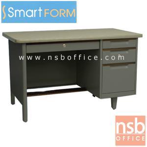โต๊ะทำงานเหล็ก 3 ฟุตครึ่งและ 4 ฟุต  ยี่ห้อ สมาร์ทฟอร์ม :<p>ผลิต 2 ขนาดคือ 3 ฟุตครึ่ง และ4 ฟุต โครงโต๊ะผลิตจากเหล็กหนา 0.5 มม. / ผลิตสีเทา(โอวันติน)&nbsp;</p>