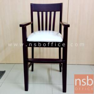 เก้าอี้กินข้าวเด็ก ไม้ยางพารา ที่นั่งหุ้มหนังเทียม KS-PPY-3 (สั่งผลิตขั้นต่ำ 10 ตัวขึ้นไป):<p>ขนาด 45W*43D*92H cm. (ขนาดเฉพาะที่นั่ง 35W*36.5D*63.5H cm.) ผลิตสีโอ๊คและสีธรรมชาติ โครงเก้าอี้ผลิตจากไม้ยางพารา ที่นั่ง-พิงบุฟองน้ำหุ้มหนังเทียมเลือกสีได้</p>