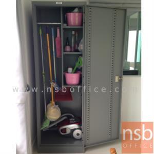 ตู้เหล็กแม่บ้าน 1 บานเปิด 60W*45.8D*183H cm ยี่ล้อเวลโก(WELCO) (เก็บอุปกรณ์ทำความสะอาด):<p>เหมาะสำหรับเก็บอุปกรณ์แม่บ้าน อุปกรณ์ทำความสะอาด /&nbsp;ขนาด 60W*45.8D*183H ซม. เหล็กหนา 0.5 มม./ ภายในมี ราวแขวนผ้า พร้อม 2 แผ่นชั้นสำหรับวางของ สามารถปรับระดับได้ /&nbsp;<span>หน้าบานผลิต 5 สีคือสีส้ม, สีม่วง, สีฟ้า, สีเขียว และสีเทาเข้ม</span></p>