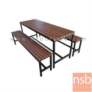 ชุดโต๊ะและเก้าอี้โรงอาหารไม้ระแนง 120W,150W,180W cm. :<p>ผลิตขนาด 120W,150W,180W cm. ไม้ระแนง เหล็ก 1.2 นิ้ว หนา 1 มม.&nbsp;</p>