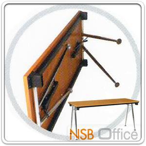 โต๊ะพับขาวีปลายเรียว หน้าเมลามีน 150W, 180W (60D/75D) (ซ้อนเก็บได้):<p>ผลิต 4 ขนาดคือ 150W*60D, 180W*60D, 150W*75D และ 180W*75D cm. / TOP ไม้ปาร์ติเกิลบอร์ด ผิวเมลามีน 25 มม. / <span>ขาเหล็กชุบโครเมี่ยม</span></p>
