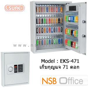 ตู้เซฟดิจิตอล เก็บกุญแจ 71 ดอก SR-EKS-471 ขนาด 36W*12D*45H cm.:<p>ขนาด 36W*12D*45H cm. ใช้รหัสล็อค 3-8 ตัว /โครงสร้างเหล็กคุณภาพดี หนา 1.5 มม. ประตูหนา 4 มม. /มีกุญแจฉุกเฉิน 2 ดอกอยู่ภายในตู้ /ผลิตสีเทาอ่อน</p>