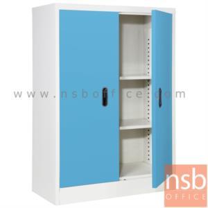 ตู้เหล็ก 2 บานเปิด (2 แผ่นชั้น) 88W*40D*122H cm:<p>88W*40.7D*122H cm. / Keylock /ผลิต 8 สีคือ สีขาวมุก, สีดำ, สีแดง, สีม่วง, สีส้ม, สีฟ้า, สีเขียว และสีเทาฟ้า</p>